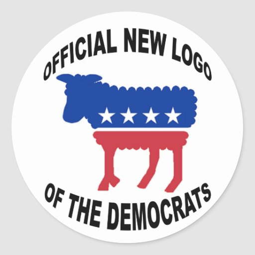 NEW LOGO OF THE DEMS STICKER