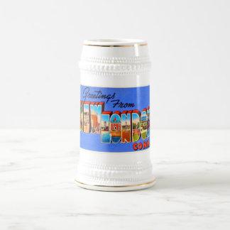 New London Connecticut CT Vintage Travel Souvenir Beer Stein