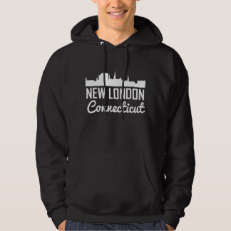 New London Connecticut Skyline Hoodie