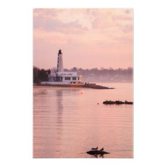 New London Harbor Light Photo Print