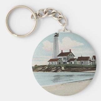 New London Harbor Lighthouse Keychain