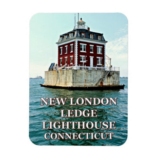 New London Ledge Light, Connecticut Photo Magnet