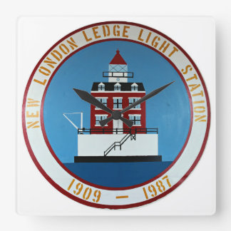 New London Ledge Lighthouse Connecticut Wall Clock