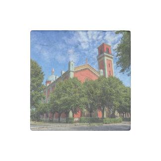 New Lutheran Church in Kezmarok, Slovakia Stone Magnets