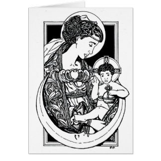 NEW! Madonna and Child Christmas Card! Card
