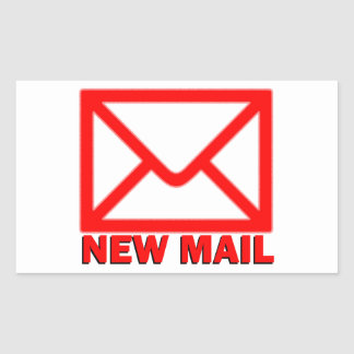New mail rectangle stickers