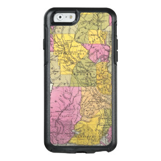 New Map Of Louisiana 3 OtterBox iPhone 6/6s Case