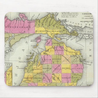 New Map Of Michigan 2 Mouse Pad