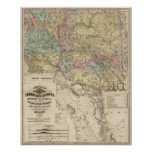 New Map of the Territory of Arizona Poster