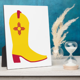 New Mexican Cowboy Boot Plaque