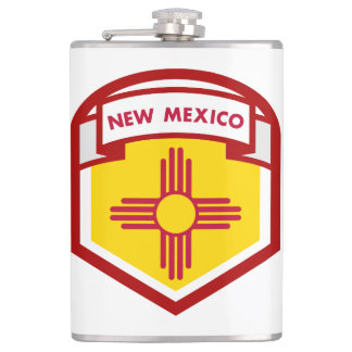 NEW MEXICIO STATE FLAG zazzle Hip Flask