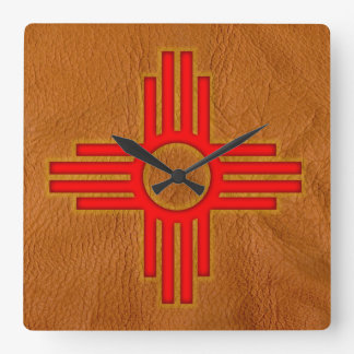 "New Mexico 10.75"" Square Wall Clock"