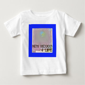 """""""New Mexico 4 Life"""" State Map Pride Design Baby T-Shirt"""