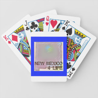 """New Mexico 4 Life"" State Map Pride Design Bicycle Playing Cards"