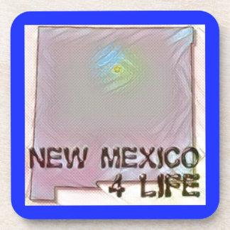 """New Mexico 4 Life"" State Map Pride Design Coaster"