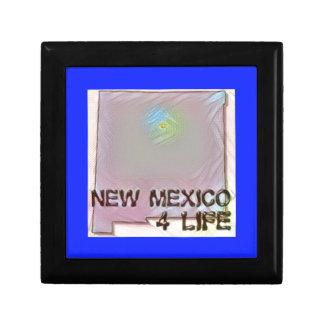 """New Mexico 4 Life"" State Map Pride Design Gift Box"