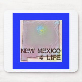 """""""New Mexico 4 Life"""" State Map Pride Design Mouse Pad"""