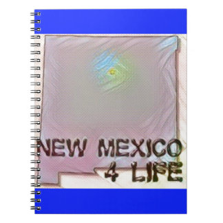 """""""New Mexico 4 Life"""" State Map Pride Design Notebooks"""