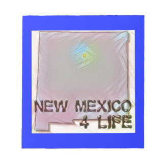 """""""New Mexico 4 Life"""" State Map Pride Design Notepad"""