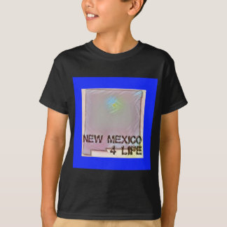 """New Mexico 4 Life"" State Map Pride Design T-Shirt"