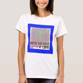 """""""New Mexico 4 Life"""" State Map Pride Design T-Shirt"""