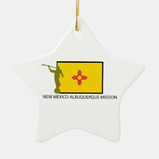 NEW MEXICO ALBUQUERQUE MISSION LDS CTR CERAMIC STAR ORNAMENT