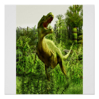 New Mexico Allosaurus Poster