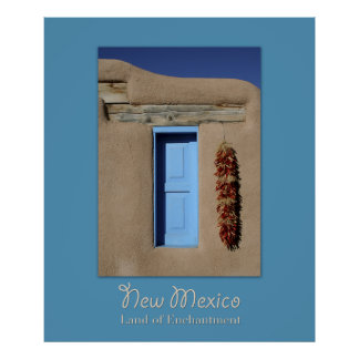 New Mexico Blue Window Poster