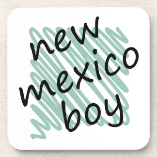 New Mexico Boy on Child's New Mexico Map Drawing Drink Coasters