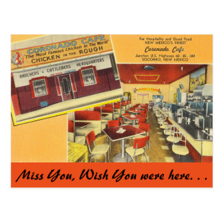 New Mexico, Coronado Cafe, Socorro Postcard