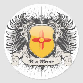 New Mexico Crest Classic Round Sticker