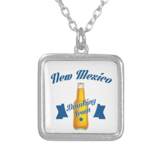 New Mexico Drinking team Silver Plated Necklace