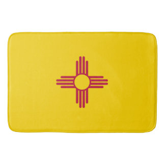 New Mexico Flag Bath Mat