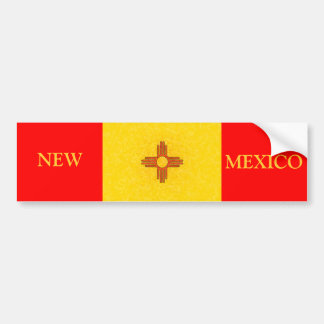 NEW MEXICO FLAG BUMPER STICKER