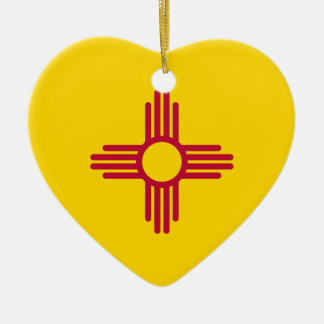 New Mexico Flag Heart Ornament