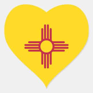 New Mexico Flag Heart Sticker