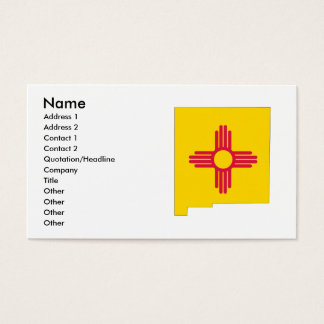 New Mexico Flag Map Business Card