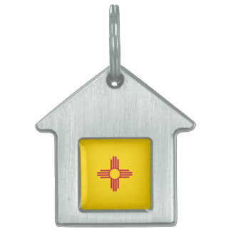 New Mexico Flag Pet ID Tag