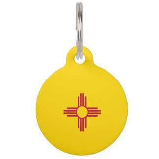 New Mexico Flag Pet Name Tag
