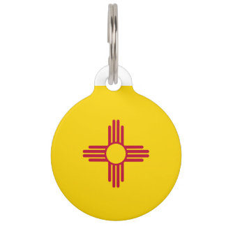 New Mexico Flag Pet Tag