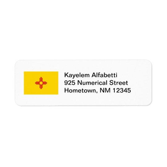 New Mexico Flag Return Address Label