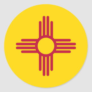 New Mexico Flag Round Sticker