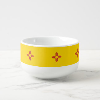 New Mexico Flag Soup Mug