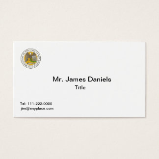 New Mexico Great Seal Business Card Template