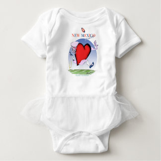 new mexico head heart, tony fernandes baby bodysuit