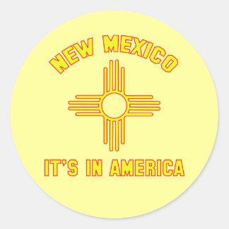 New Mexico - It's in America Classic Round Sticker