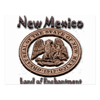 New Mexico Land of EnchantmentState Seal Postcard