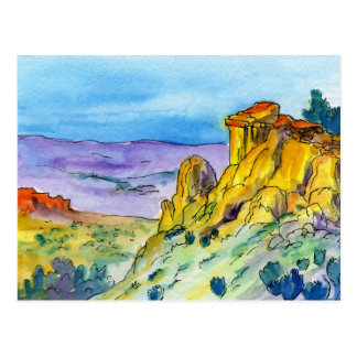 New Mexico Landscape High Desert Trail 01 Postcard