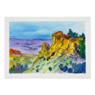 New Mexico Landscape High Desert Trail 01 Poster