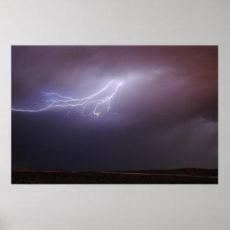 New Mexico Lightening Poster